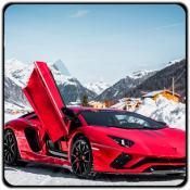 兰博基尼汽车雪地赛车